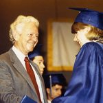 Leon Lederman with IMSA Graduate