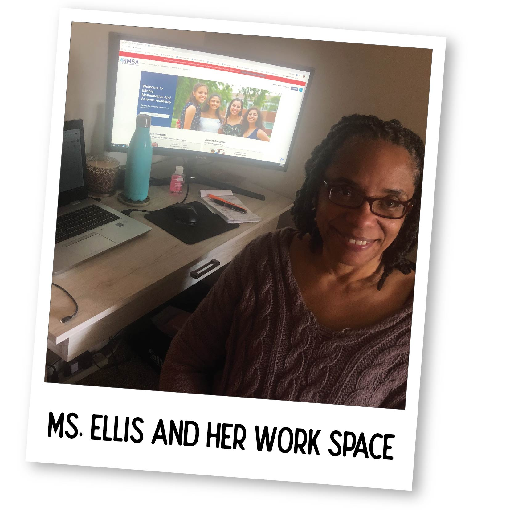 Traci and Her Work Space